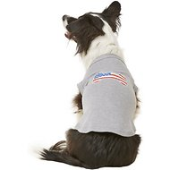 Mirage Pet Products Bone Shaped American Flag Dog & Cat Shirt, Grey, X-Large