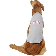Mirage Pet Products Bone Shaped American Flag Dog & Cat Shirt, Grey, XXX-Large