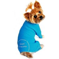 Doggie Design Sweet Dreams Thermal Dog Pajamas, Medium, Blue