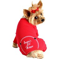 Doggie Design Santa's Lil' Helper Christmas Thermal Dog Pajamas, Large