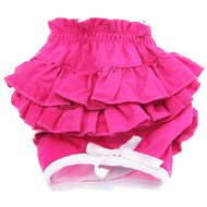 Doggie Design Ruffled Dog Panties, Solid Pink, Large