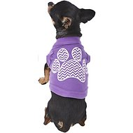 Mirage Pet Products Chevron Paw Dog & Cat Shirt, Purple, X-Small