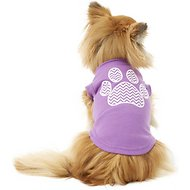 Mirage Pet Products Chevron Paw Dog & Cat Shirt, Purple, Small