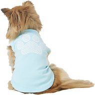 Mirage Pet Products Chevron Paw Dog & Cat Shirt, Aqua, Medium