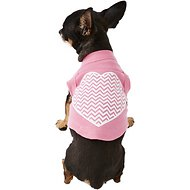 Mirage Pet Products Chevron Heart Dog & Cat Shirt, Bright Pink, X-Small