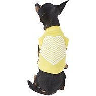Mirage Pet Products Chevron Heart Dog & Cat Shirt, Yellow, X-Small