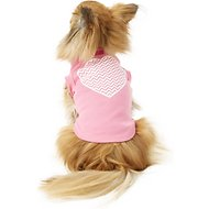 Mirage Pet Products Chevron Heart Dog & Cat Shirt, Bright Pink, Small