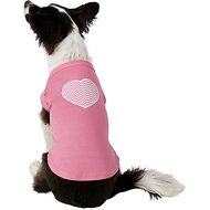 Mirage Pet Products Chevron Heart Dog Shirt, Medium, Bright Pink