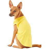 Mirage Pet Products Plain Dog & Cat Shirt, Yellow, Large