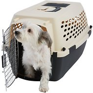Frisco Plastic Kennel, Almond & Black, Small