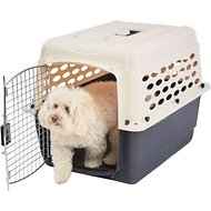 Frisco Plastic Kennel, Almond & Black, Medium