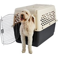 Frisco Plastic Kennel, Almond & Black, X-Large