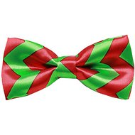 Mirage Pet Products Dog & Cat Bow Tie, Christmas Chevron