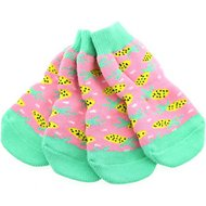 Doggie Design Non-Skid Dog Socks, Medium, Pineapple