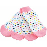 Doggie Design Non-Skid Dog Socks, Large, Hearts