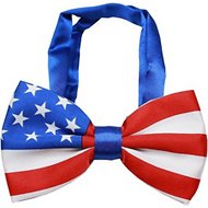 Mirage Pet Products Big Dog Bow Tie, American Flag