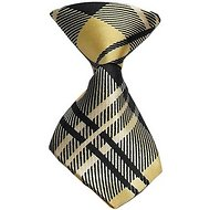 Mirage Pet Products Dog & Cat Neck Tie, Cream Plaid
