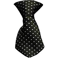 Mirage Pet Products Dog & Cat Neck Tie, Swiss Dot Black