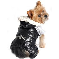 Doggie Design Ruffin It Dog Snow Suit Harness, Black&Gray, X-Small