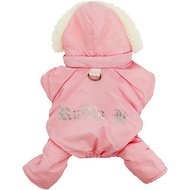 Doggie Design Ruffin It Dog Snow Suit Harness, Small, Pink