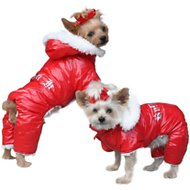 Doggie Design Ruffin It Dog Snow Suit Harness, Small, Red