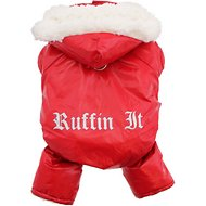 Doggie Design Ruffin It Dog Snow Suit Harness, Medium, Red
