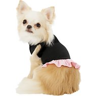 Mirage Pet Products Plain Dog & Cat Dress, Black & Pink, X-Small