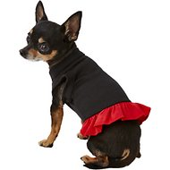 Mirage Pet Products Plain Dog & Cat Dress, Black & Red, X-Small