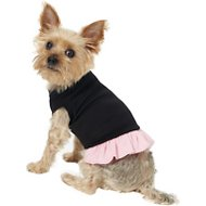 Mirage Pet Products Plain Dog & Cat Dress, Black & Pink, Small