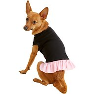 Mirage Pet Products Plain Dog & Cat Dress, Black & Pink, Medium