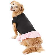 Mirage Pet Products Plain Dog & Cat Dress, Black & Pink, XX-Large
