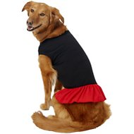 Mirage Pet Products Plain Dog Dress, XXX-Large, Black & Red