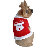 Doggie Design Rudolph Holiday Dog Sweater, XX-Small