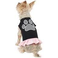 Mirage Pet Products Chevron Paw Dog & Cat Dress, Black & Pink, Small