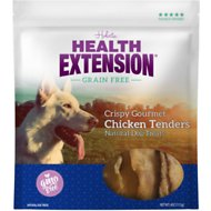 Health Extension Grain-Free Crispy Gourmet Chicken Tender Dog Treats, 4-oz
