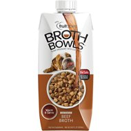 Fruitables Beef Broth Bowls Dog Food Topper, 16.9-oz carton