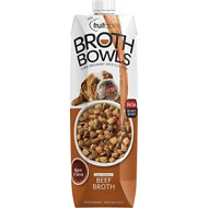 Fruitables Beef Broth Bowls Dog Food Topper, 33.8-oz carton
