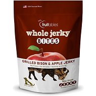 Fruitables Whole Jerky Bites Grilled Bison Dog Treats, 5-oz bag