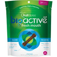 Fruitables BioActive Fresh Mouth Tiny Dental Chews Dog Treats, 22 count