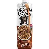 Fruitables Bacon Broth Bowls Dog Food Topper, 33.8-oz carton