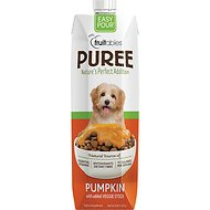 Fruitables Easy Pour Pumpkin Puree Dog & Cat Supplement, 33.8-oz carton