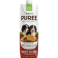 Fruitables Easy Pour Sweet Potato Puree Dog Supplement, 33.8-oz carton