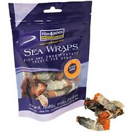 Fish4Dogs Sea Wraps Dog Treats, Sweet Potato, 3.5-oz bag