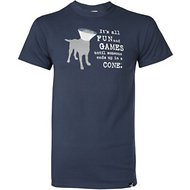 "Dog is Good ""It's All Fun and Games"" Unisex Adult Short Sleeve T-Shirt, Dusk Blue, Large"