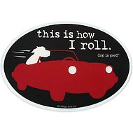 "Dog is Good ""This is How I Roll"" Oval Car Magnet"