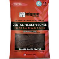 Indigenous Pet Products Smoked Bacon Dental Dog Bones, 13 count