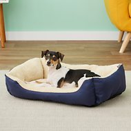 ASPCA Microtech Cuddler Dog Bed, Blue