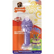 Nylabone Flavor Frenzy DuraChew Birthday Cake Flavored Bone Dog Chew Toy, Medium
