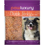 Pawluxury Duck Jerky Dog Treats, 40-oz bag
