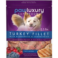 Pawluxury Superfood Turkey Jerky with Cranberries Dog Treats, 40-oz bag